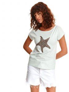 חולצת T טופ סיקרט לנשים TOP SECRET Star - טורקיז