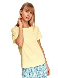 חולצת T טופ סיקרט לנשים TOP SECRET Step - צהוב