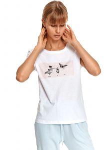 חולצת T טופ סיקרט לנשים TOP SECRET TimeToFly - לבן