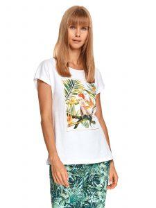 חולצת T טופ סיקרט לנשים TOP SECRET ZOO - לבן