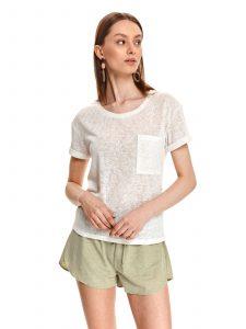 חולצת T טופ סיקרט לנשים TOP SECRET pocket - לבן
