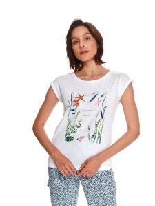 חולצת T טופ סיקרט לנשים TOP SECRET sea - לבן