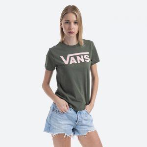 חולצת T ואנס לנשים Vans Flying V Crew - ירוק