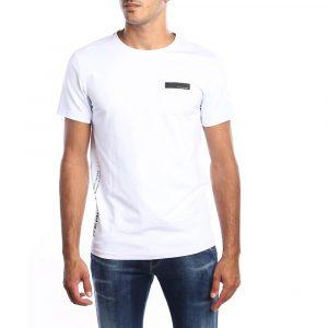 חולצת T ריפליי לגברים REPLAY LOGO - לבן