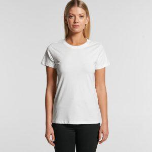 חולצת T אס קולור לנשים As Colour MAPLE ORGANIC - לבן