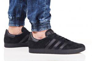 נעלי סניקרס אדידס לגברים Adidas Originals GAZELLE - שחור מלא