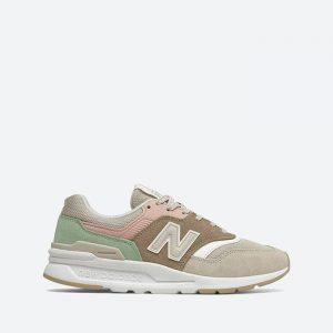 נעלי סניקרס ניו באלאנס לנשים New Balance CW997 - חום/ירוק