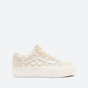 נעלי סניקרס ואנס לנשים Vans Old Skool Platform - בז'