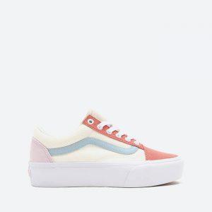נעלי סניקרס ואנס לנשים Vans Old Skool Platform - צבעוני בהיר