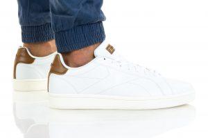 נעלי סניקרס ריבוק לגברים Reebok ROYAL COMPLETE CLN - לבןחום