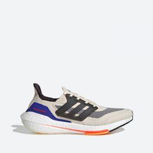 נעלי ריצה אדידס לגברים Adidas Ultraboost 21 - צבעוני בהיר