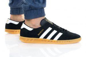 נעלי סניקרס אדידס לגברים Adidas Originals HAMBURG - שחור/לבן