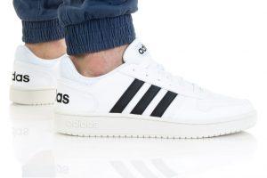 נעלי סניקרס אדידס לגברים Adidas HOOPS 2 - לבן/בז'