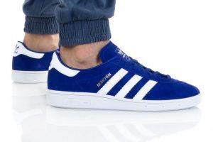 נעלי סניקרס אדידס לגברים Adidas Originals Munchen - כחול