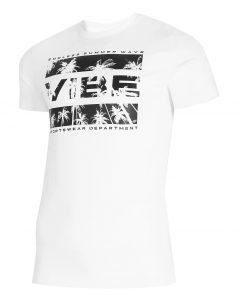 חולצת T פור אף לגברים 4F H4L21 TSM026 - לבן