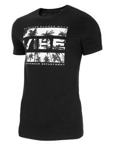 חולצת T פור אף לגברים 4F H4L21 TSM026 - שחור