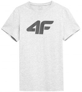 חולצת T פור אף לגברים 4F NOSH4 TSM353 - אפור בהיר