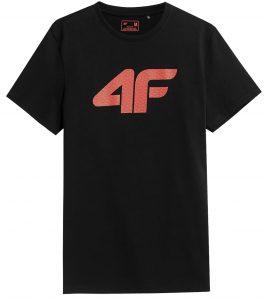 חולצת T פור אף לגברים 4F NOSH4 TSM353 - שחור הדפס
