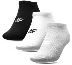 גרב פור אף לגברים 4F socks 3 IN PACK - לבן/אפור