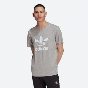 חולצת T אדידס לגברים Adidas Originals Trefoil - אפור