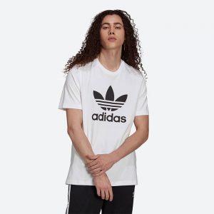 חולצת T אדידס לגברים Adidas Originals Trefoil - לבן