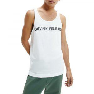 גופיה קלווין קליין לגברים Calvin Klein Institutional Logo - לבן
