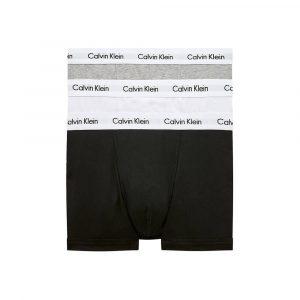 תחתוני קלווין קליין לגברים Calvin Klein Low Rise 3 IN PACK - לבן/שחור