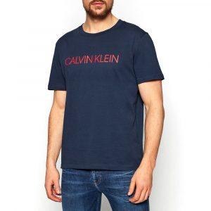חולצת T קלווין קליין לגברים Calvin Klein Relaxed Crew - כחול