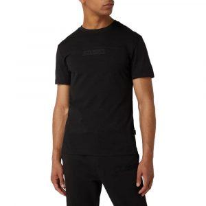 חולצת T קלווין קליין לגברים Calvin Klein Tonal Color Block - שחור