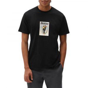חולצת T Dickies לגברים Dickies Baudette - שחור