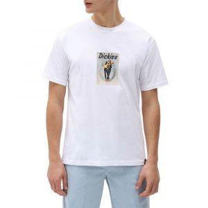 חולצת T Dickies לגברים Dickies Baudette - לבן