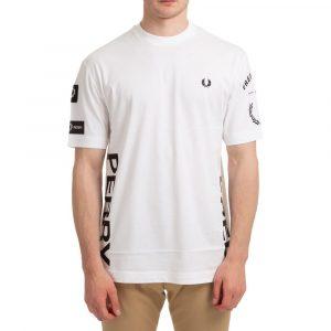 חולצת T פרד פרי לגברים FRED PERRY Bold Branding - לבן