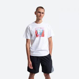 חולצת T HUF לגברים HUF Ice Melts - לבן
