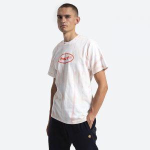 חולצת T HUF לגברים HUF LSD Tiedye - לבן