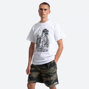חולצת T HUF לגברים HUF Vacation UV - לבן