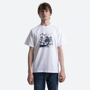 חולצת T HUF לגברים HUF x James Jarvis Up - לבן