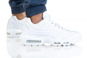נעלי סניקרס נייק לגברים Nike AIR MAX 95 ESSENTIAL - לבן
