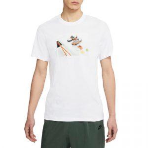 חולצת T נייק לגברים Nike Print Table - לבן