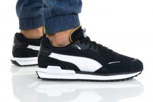 נעלי סניקרס פומה לגברים PUMA CITY RIDER B&W - שחור