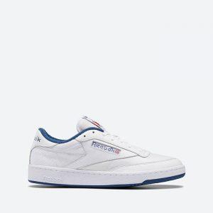 נעלי סניקרס ריבוק לגברים Reebok Club C 1985 TV - לבן/ כחול