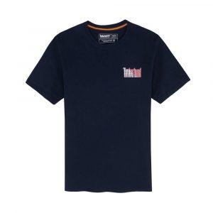 חולצת T טימברלנד לגברים Timberland On The Back - כחול כהה