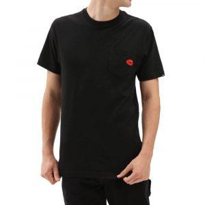חולצת T ואנס לגברים Vans Anaheim Lips Pocket - שחור