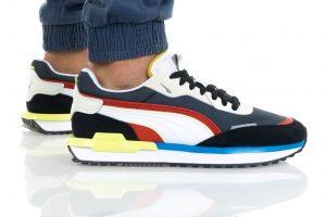 נעלי סניקרס פומה לגברים PUMA CITY RIDER - צבעוני כהה