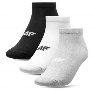 גרב פור אף לנשים 4F socks 3 IN PACK - לבן/אפור