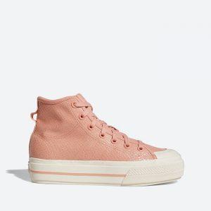 נעלי סניקרס אדידס לנשים Adidas Originals Nizza Rf Platform Mid - כתום