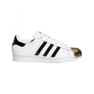 נעלי סניקרס אדידס לנשים Adidas Superstar Metal Toe - לבן/שחור