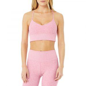 טופ וחולצת קרופ אלו יוגה לנשים Alo Yoga Alosoft Lavish Bra - ורוד