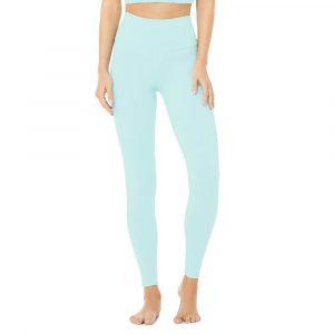 טייץ אלו יוגה לנשים Alo Yoga High-Waist Airbrush - כחול
