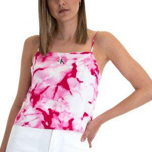 גופיה קלווין קליין לנשים Calvin Klein Monogram Cami - צבעוני/לבן