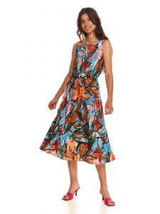 שמלת מיני טופ סיקרט לנשים TOP SECRET Bow - צבעוני כהה